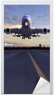Nálepka na Dveře Letadlo přistání 3D ilustrace