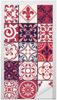 Nálepka na Dveře Marocké dlaždice vzor