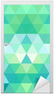 Nálepka na Dveře Mosaic trojúhelník na pozadí. geometrické pozadí