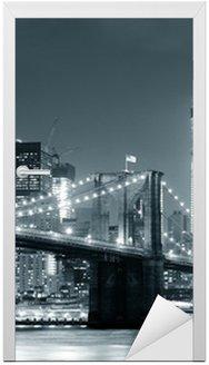 Nálepka na Dveře New York City Brooklyn Bridge