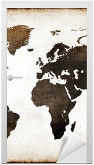 Nálepka na Dveře Old World Map
