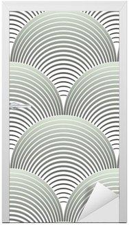 Nálepka na Dveře Ozdobený Geometrické Petals Grid, abstraktní vektorové bezešvé vzor