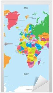 Nálepka na Dveře Politická mapa světa vektoru