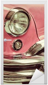 Nálepka na Dveře Retro stylizovaný obraz přední části klasické auto