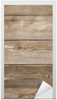 Nálepka na Dveře Rustikální zvětralý dřevo pozadí
