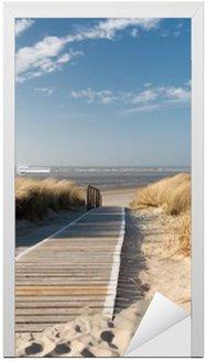 Nálepka na Dveře Severní moře pláž v Langeoog