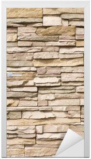 Nálepka na Dveře Skládaný kamenná zeď na pozadí horizontální