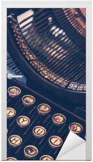 Nálepka na Dveře Starožitný psací stroj