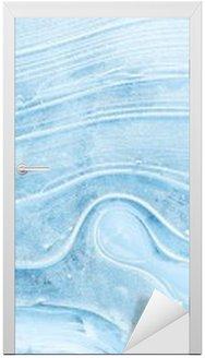 Nálepka na Dveře Textura ledu na zamrzlém jezeře.
