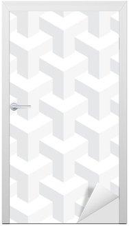 Nálepka na Dveře Vektor neskutečný textura, abstraktní design, iluze konstrukce, bílé pozadí