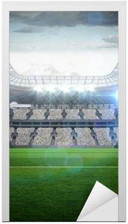 Nálepka na Dveře Velký fotbalový stadion s osvětlením