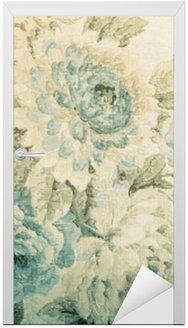 Nálepka na Dveře Vinobraní tapety s modrým květinovým vzorem viktoriánské