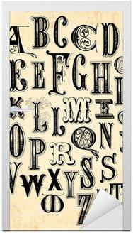 Nálepka na Dveře Vintage abecedy