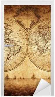 Nálepka na Dveře Vintage mapa světa 1733