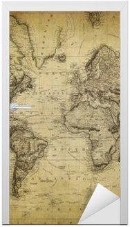 Nálepka na Dveře Vintage mapa světa 1814 ..