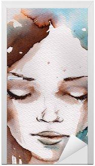 Nálepka na Dveře Zima, zima portrét
