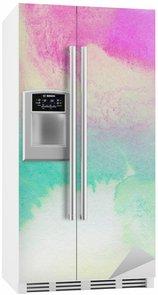 Nálepka na Ledničku Abstraktní barevné akvarel malovaná pozadí