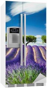 Nálepka na Ledničku Lavande Provence Francie / levandule pole v Provence, Francie