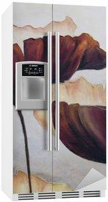 Nálepka na Ledničku Mák abstraktní malby