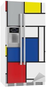 Nálepka na Ledničku Mondrian inspiroval umění