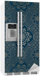 Nálepka na Ledničku Orientální styl tapety, bezešvé vzor