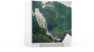 Nálepka na Ledničku Scenic Norwegian Waterfall