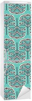 Nálepka na Ledničku Seamless pattern lesní