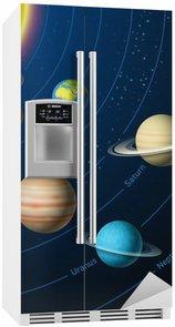 Nálepka na Ledničku Solární systém planety