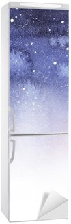Nálepka na Ledničku Zářivě barevné pozadí akvarel