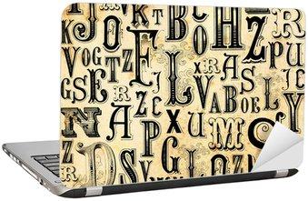 Nálepka na Notebook ABC ročník pozadí