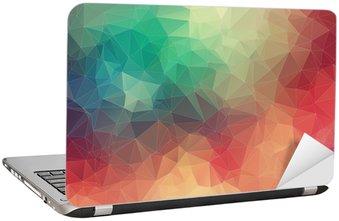 Nálepka na Notebook Abstract 2D geometrické barevné pozadí