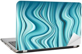 Nálepka na Notebook Abstrakt backgrounnd. Sekce modrým kamenem