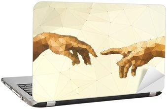 Nálepka na Notebook Abstrakt Boží ruka vektorové ilustrace