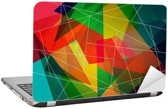 Nálepka na Notebook Abstraktní barevné mozaika