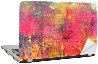 Nálepka na Notebook Abstraktní barevné ručně malované plátno textury na pozadí