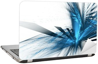 Nálepka na Notebook Abstraktní futuristické pozadí