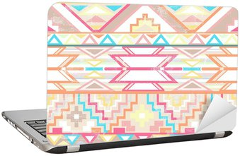 Nálepka na Notebook Abstraktní geometrické bezešvé aztec vzor.