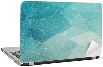 Nálepka na Notebook Abstraktní polygonální pozadí, vektor