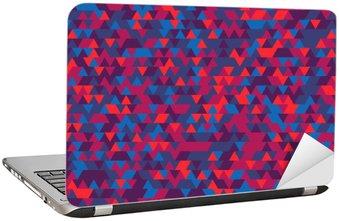 Nálepka na Notebook Abstraktní pozadí trojúhelníků. Gradace Violet. Fialové odstíny.