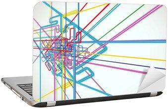 Nálepka na Notebook Abstraktní Pozadí Vektorové Doprava