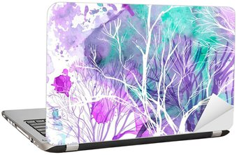 Nálepka na Notebook Abstraktní silueta stromů