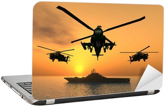 Nálepka na Notebook Apache Helicopter