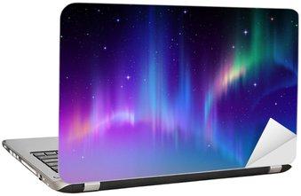 Nálepka na Notebook Aurora Borealis v hvězdném polární oblohy, ilustrační
