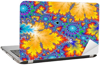 Nálepka na Notebook Barevné fraktální pozadí