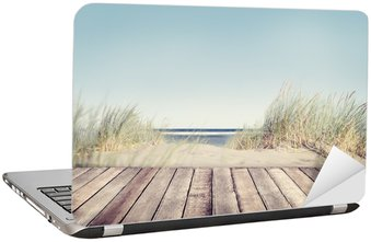Nálepka na Notebook Beach and Wooden Plank