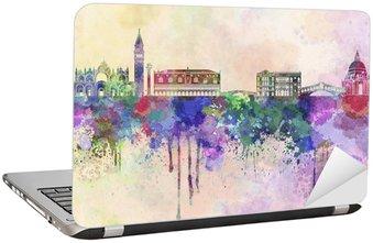 Nálepka na Notebook Benátky panorama v akvarelu pozadí