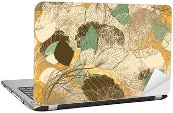Nálepka na Notebook Bezešvé abstraktní květinový vzor