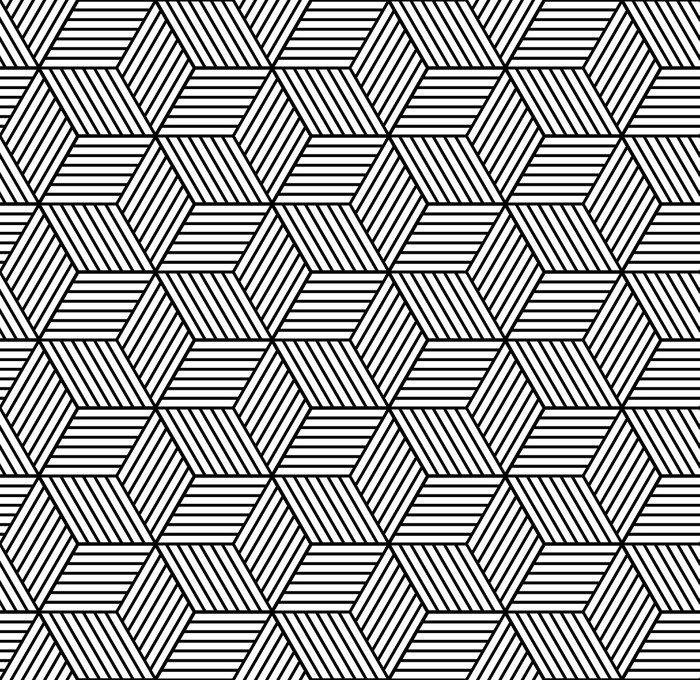 Nálepka na Notebook Bezešvé geometrický vzor s kostkami. - Grafika