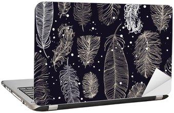 Nálepka na Notebook Bezproblémové vzorek s krásným peřím