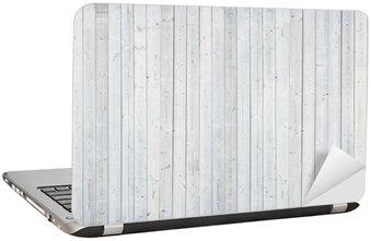 Nálepka na Notebook Bílá dřevěná stěna